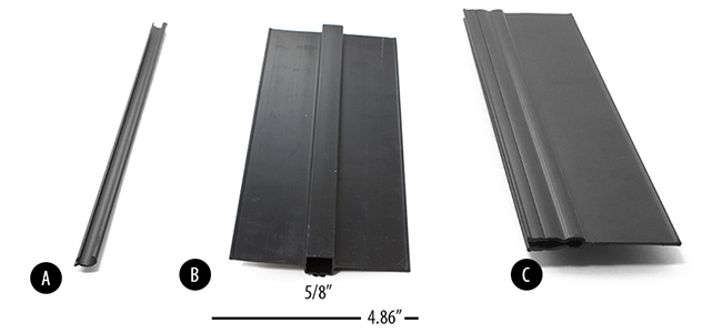 Aluminum fence privacy slats for inch pickets