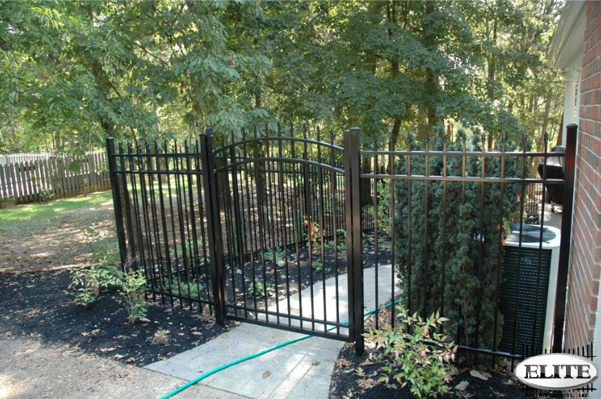 White Elite Aluminum Fence Elite Aluminum Fence Garden Gate ...
