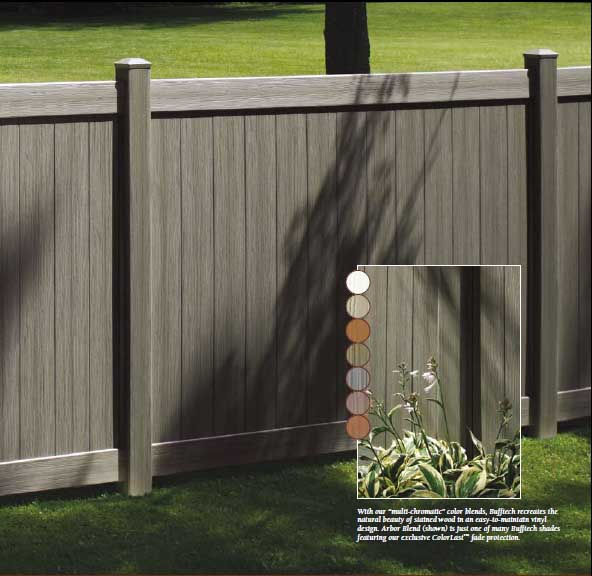 CertaGrain Arbor Blend Fence Panel Example with Color Options