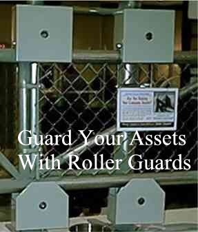 Chain Link Roller Guard covers