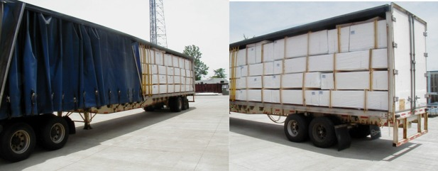 Truckload of a Post and Rail Fencing Shipment