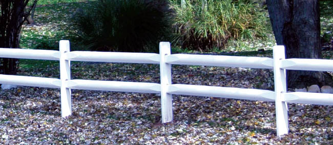 vinyl split rail fence