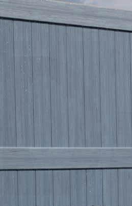 Galveston Certagrain Texture Arctic Blend Vinyl Fence By