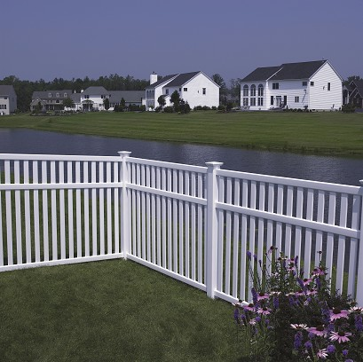 Baron Vinyl Fence With Optional Midrail By Bufftech