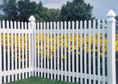 Vinyl fence charleston charleston concave vinyl fence for Charleston style fence