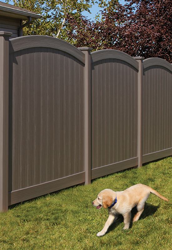 Chesterfield Certagrain With Convex Accent Vinyl Fence By
