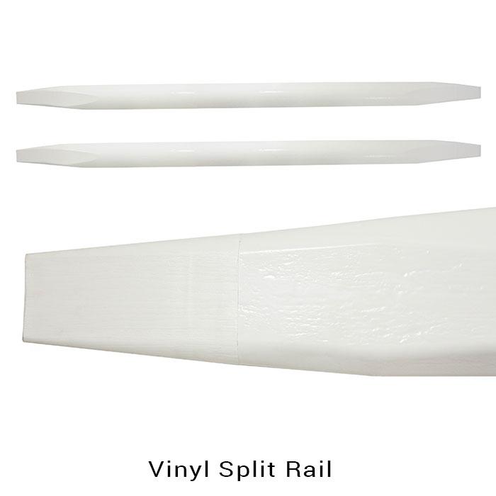 Maintenance free vinyl split rail discount fence supply